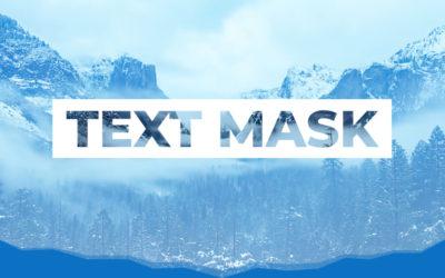 Efecto máscara de texto (text mask) en Divi y WordPress