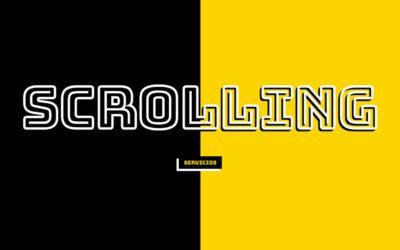Crear efecto text scrolling mouse parallax en divi