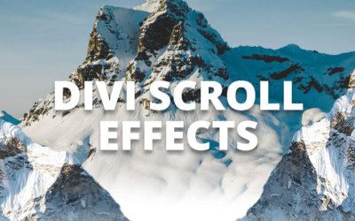 Divi Scroll Effects. Efectos de desplazamiento divi.
