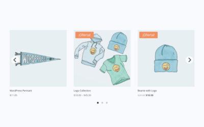 Cómo crear un carrusel dinámico para los productos de woocommerce con el módulo tienda de divi