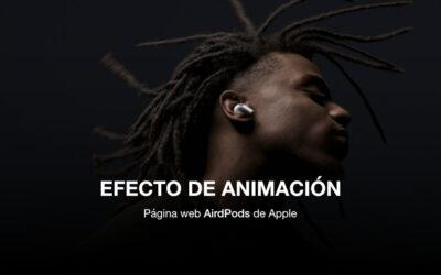 Cómo crear un efecto de animación tipo AirPods Pro de Apple con wordpress y divi