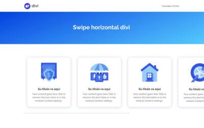 Cómo aplicar un swipe, scroll o desplazamiento horizontal a cualquier módulo en divi