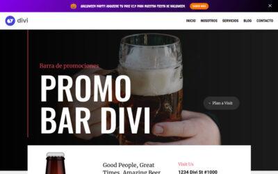 Cómo crear una barra de promociones en divi con el theme builder (sin plugins)