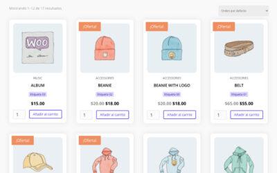 Agregar categorías, etiquetas, seleccionar cantidad y el botón añadir al carrito en los productos de la tienda woocommerce con divi.
