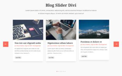 Cómo crear un slider para los post (entradas) del módulo blog de divi sin plugins