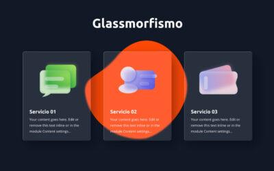 Cómo crear un increíble efecto de glassmorfismo (glass morphism) con divi