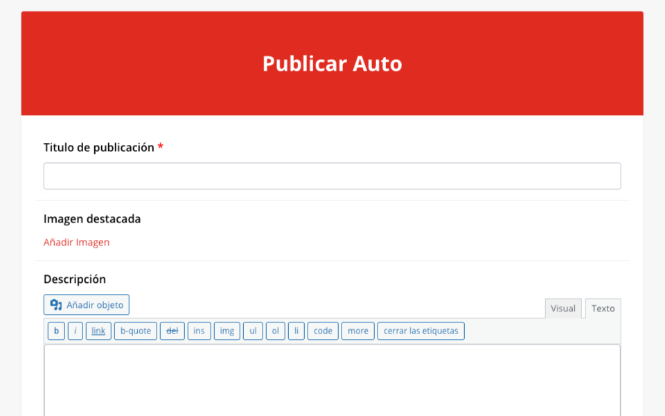 Publicar cualquier tipo de publicación personalizada a través de un formulario desde la parte frontal de tu sitio web en divi