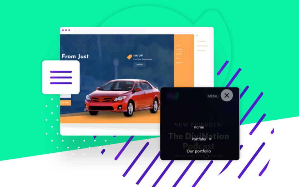 Cómo crear un hermoso menú móvil personalizado para divi con Divi Mobile de Divi Engine
