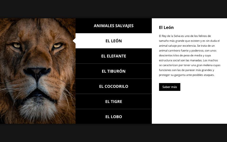 Cómo reemplazar la imagen, título y descripción de una sección, fila o columna al hacer click en un módulo en divi