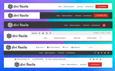 Explorando Divi Flexile Headers: 50 encabezados personalizados para divi theme builder