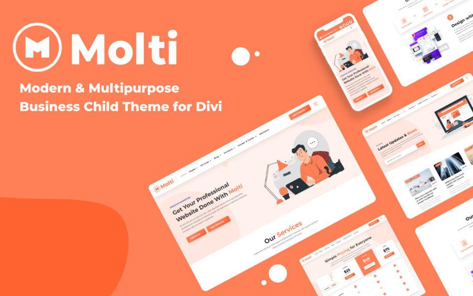 Explorando Molti: Tema hijo o child theme multi-propósito para divi
